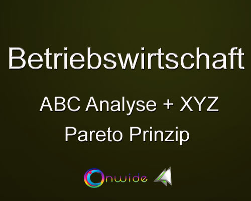 ABC Analyse, Pareto Prinzip, XYZ Analyse - Conwide, Community Kontakt Portal