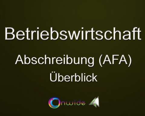 Abschreibung (AfA), Überblick