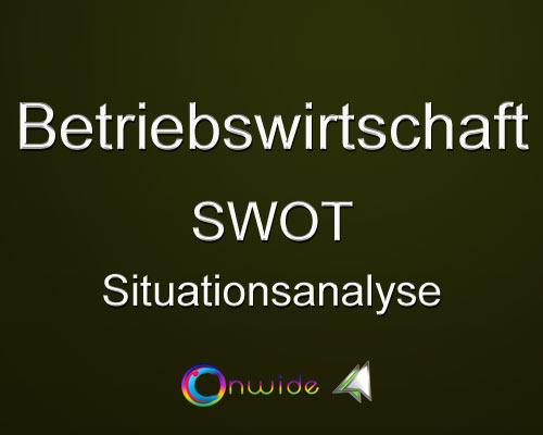 Situationsanalyse SWOT - Conwide, Community-Kontakt-Portal