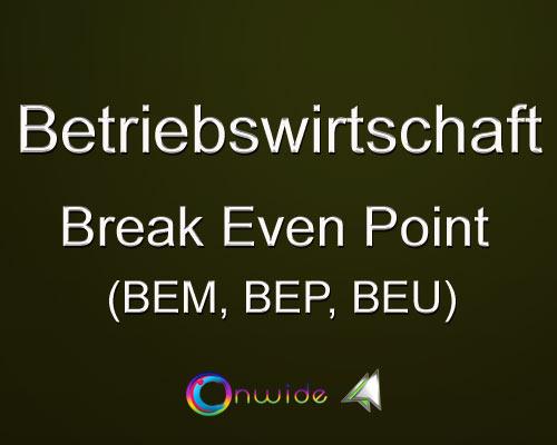Break Even Point, Aufgaben Lösungen - Conwide, Community Kontakt Portal
