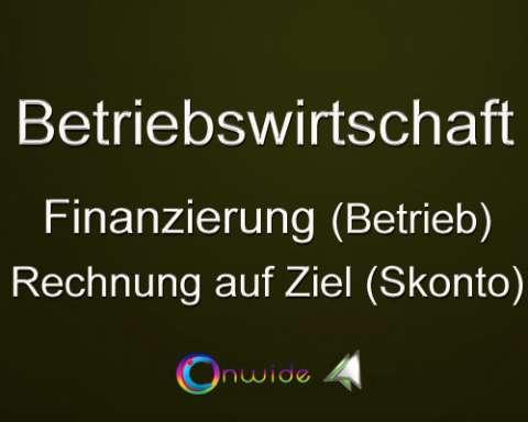 Finanzierung, Skontoberechnung (Betrieb)