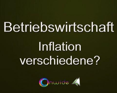 Inflation, unterschiedliche