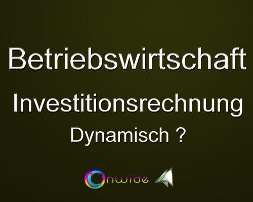 Investitionsrechnung Dynamisch - Conwide, Community Kontakt Portal