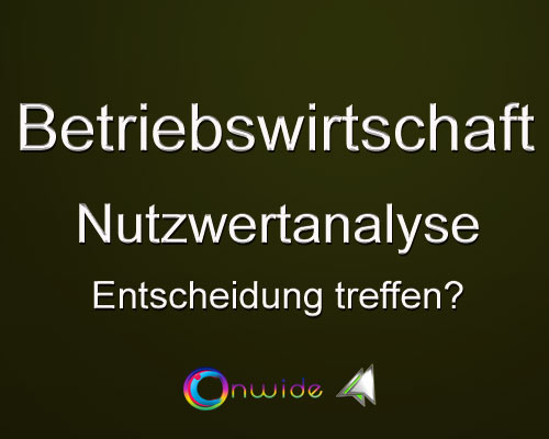 Nutzwertanalyse - Conwide, Community Kontakt Portal