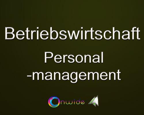 Personal Entscheidungen, Management - Conwide