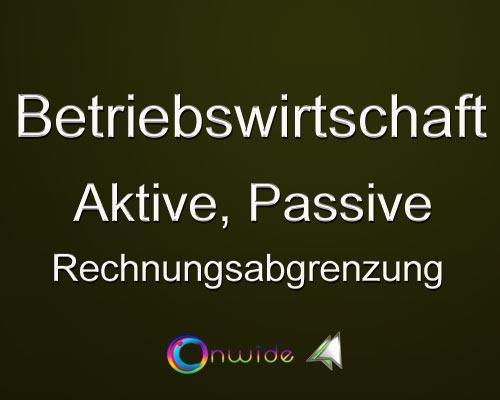 Aktive Passive Rechnungsabgrenzung - Conwide, Community Kontakt Portal