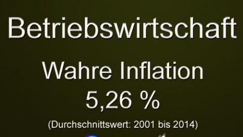 Geld, die wahre Inflation ?