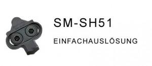 Shimano SPD- Klicksystem, SM-SH 51 - Fahrrad MTB - Klickpedal, Clickies, Cleat