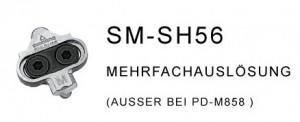 Shimano SPD- Klicksystem, SM-SH 56 - Fahrrad MTB - Klickpedal, Clickies, Cleat