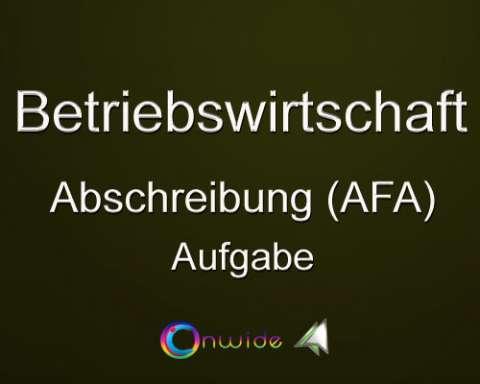 Abschreibung (AfA), Aufgabe