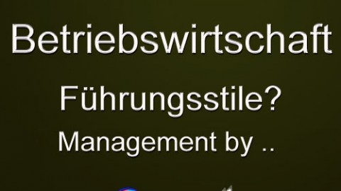 Führungsstile, Management by  ..  ?