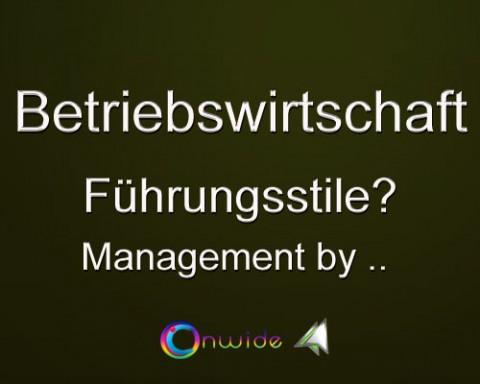 Führungsstile, Management by  ..  ?
