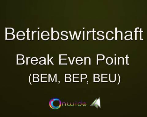 Break Even Point, Aufgaben Lösungen