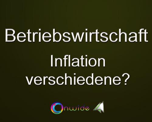 Unterschiedliche Inflation - Conwide, Community Kontakt Portal