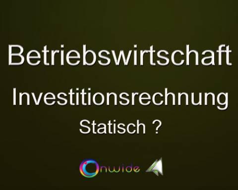 Investitionsrechnung / Statisch