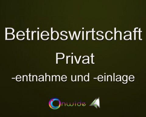 Privatentnahmen Privateinlagen (buchen)